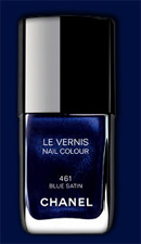 Blue Satin Nail Color