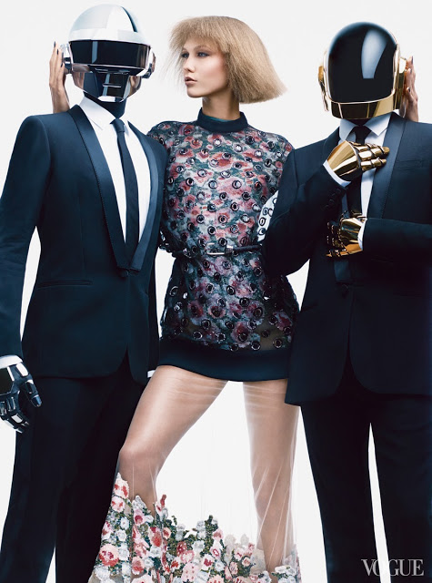 daft-punk-karlie-kloss-Givenchy by Riccardo Tisci embroidered organza sweater