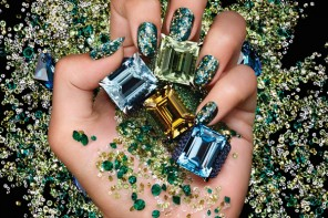 Jewelry on your nails: Deborah Lippmann's holographic Jewel Heist collection.
